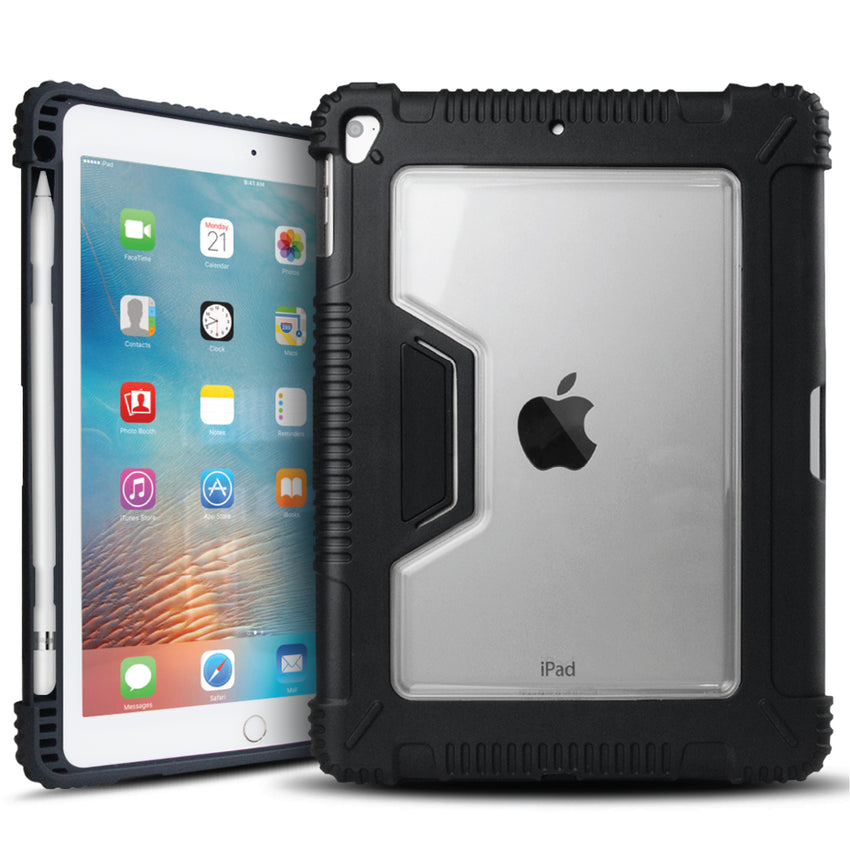 finest selection 259e4 51840 iBenzer Rugged iPad Protective Case with Pen Holder for Apple iPad 9.7