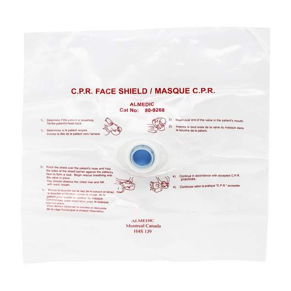 CPR Disposable Face Shield/Mask with One-way Valve