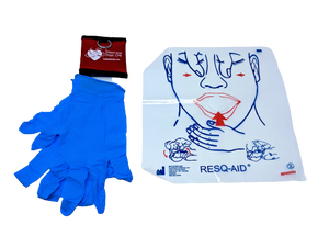 Keychain Pouch-CPR Mask and Gloves
