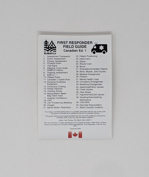 First Responder Field Guide-MADE IN CANADA