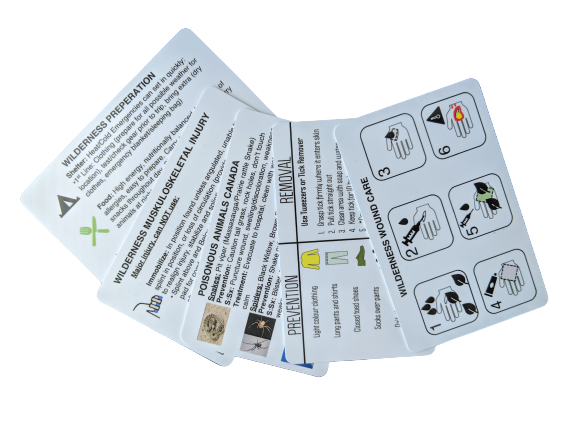 Wilderness First Aid Reference Cards
