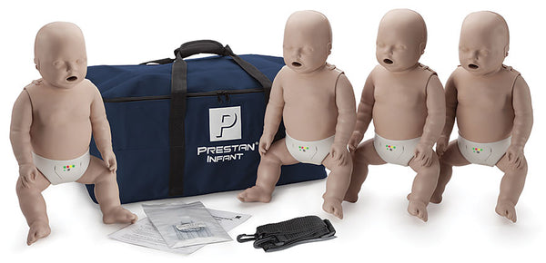 Prestan Professional Infant CPR-AED Training Manikins 4-Pack