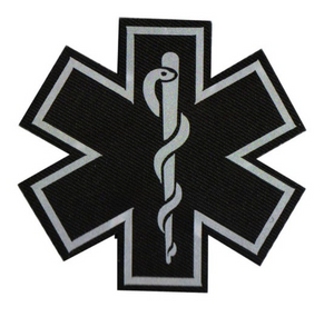 Star of Life Reflective Velcro Patch