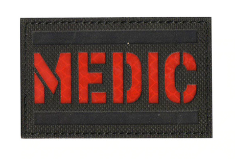 MEDIC reflective Velcro Patch (Red)