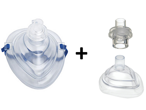CPR Pocket Mask Set: Adult and Infant