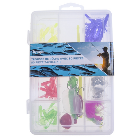 Fishing Tackle Kit- 80 pieces