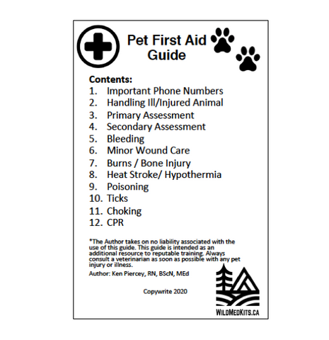 Pet First Aid Pocket Guide