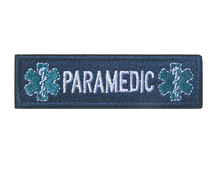 Paramedic Velcro Patch Blue