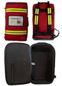 Red First Responder Backpack: MADE IN CANADA