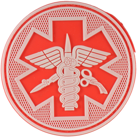 Tactical Medical Velcro Patch-Red
