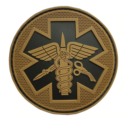 Tactical Medical Velcro Patch-Dark