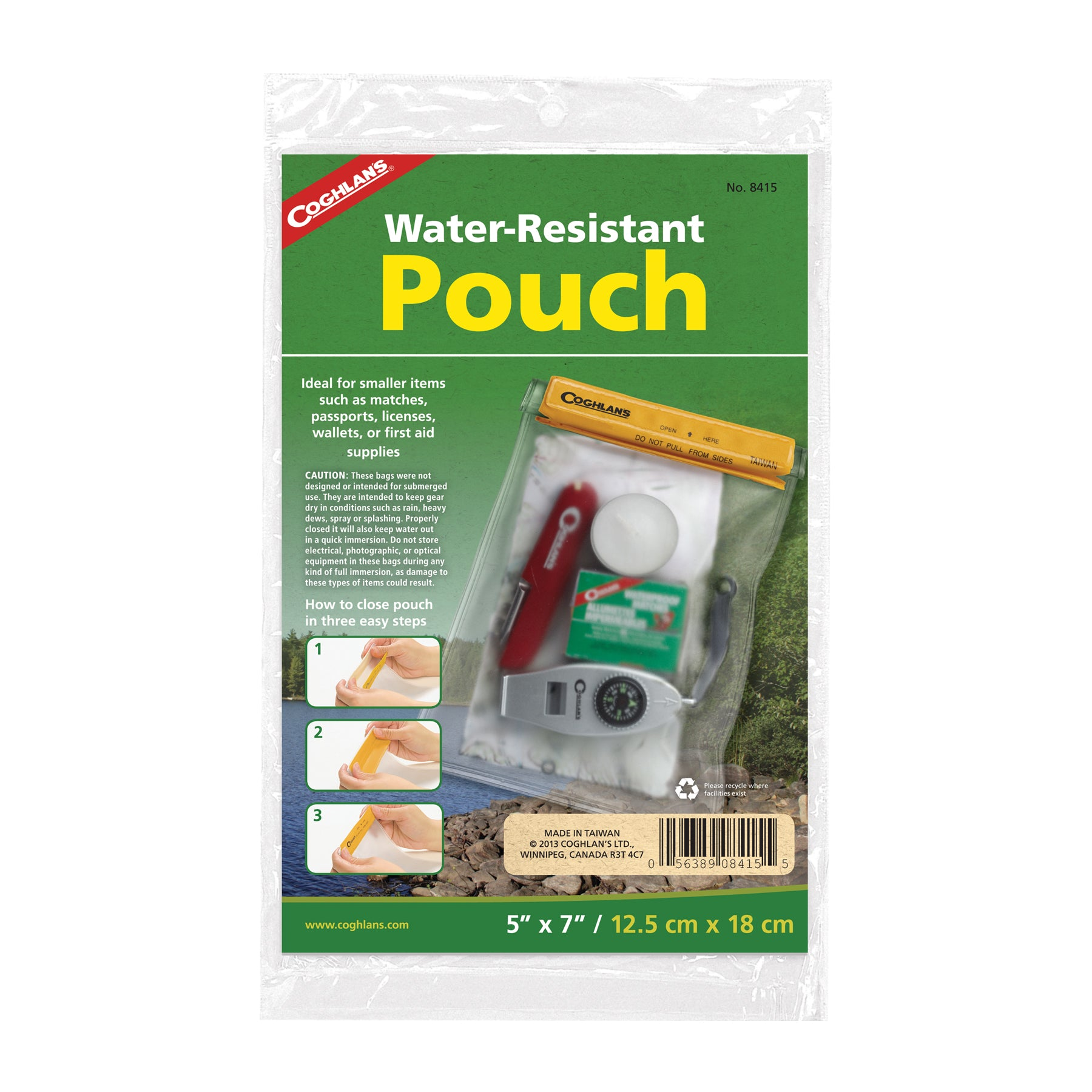 "Water Resistant Pouch 5"" x 7"""