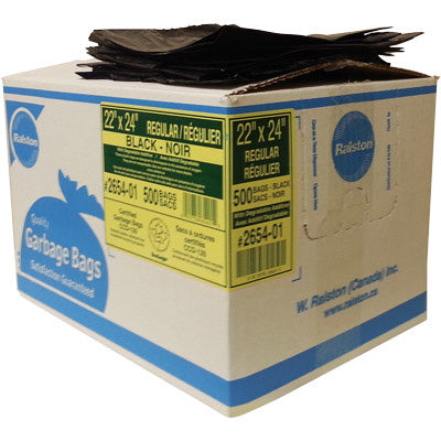 "Garbage Bag black 22""x24"" (500/bx)"