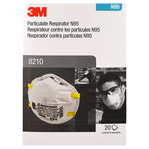 N95 3M Fitted Mask: 8210 (20/bx)