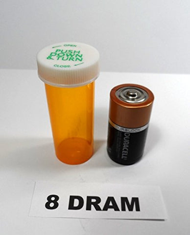 Empty Pill Bottle 8 dram size