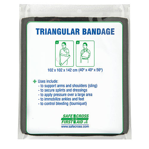 Triangular Bandage- Cloth Black Reusable
