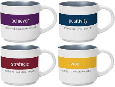 Complete set of 34 Individual CliftonStrengths Mugs