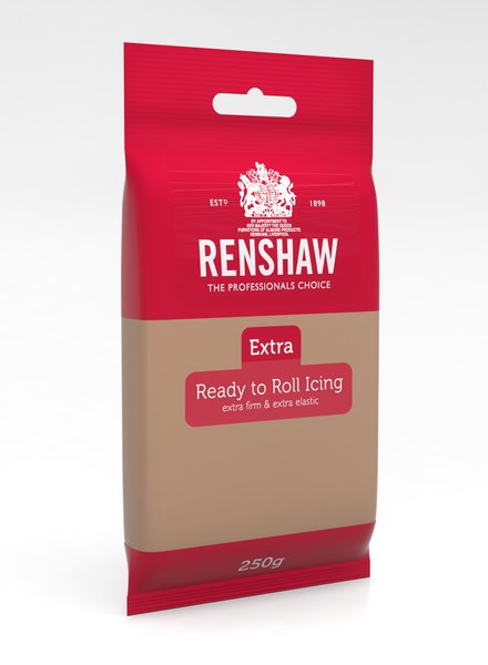 Renshaw Extra Brown Ready to Roll Fondant Icing 250g