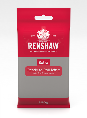 Renshaw Extra Grey Ready to Roll Fondant Icing 250g