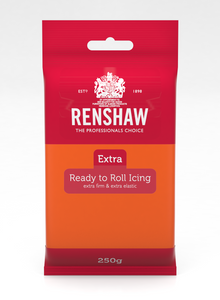 Renshaw Extra Orange Ready to Roll Fondant Icing 250g