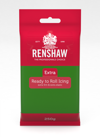 Renshaw Extra Green Ready to Roll Fondant Icing 250g