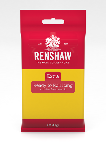 Renshaw Extra Yellow Ready to Roll Fondant Icing 250g