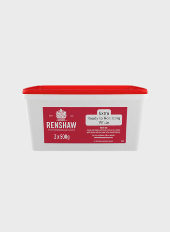 Renshaw Extra White Ready to Roll Fondant Icing 1kg Tub