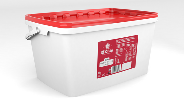 Renshaw Extra White Ready to Roll Fondant Icing 10kg Tub