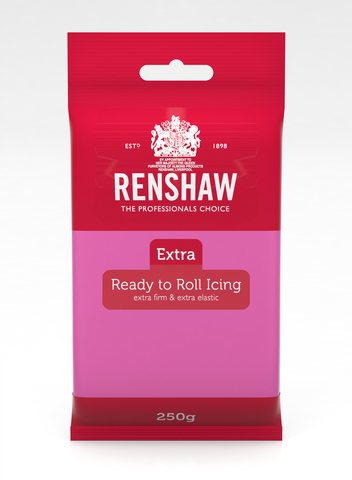 Renshaw Extra Fuchsia Pink Ready to Roll Fondant Icing 250g