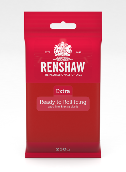 Renshaw Extra Red Ready to Roll Fondant Icing 250g