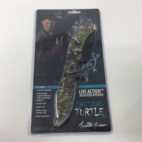 TURTLE MAN ASSISTED OPENING TACTICAL TURTLE II LINERLOCK