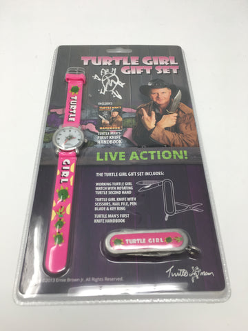 TURTLEMAN TURTLE GIRL GIFT WATCH AND KNIFE COMBO