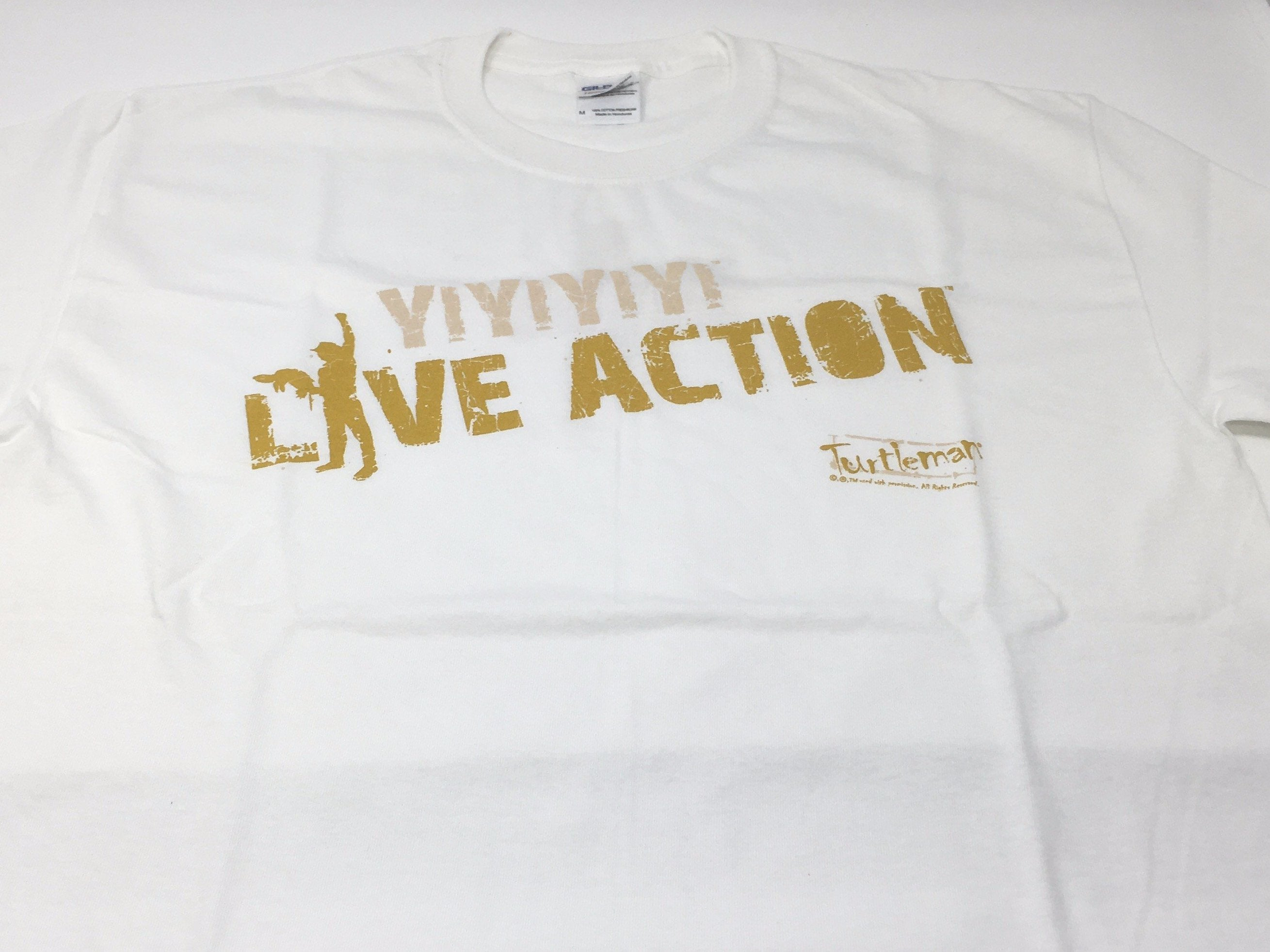 TURTLEMAN YIYIYI LIVE ACTION WHITE T-SHIRT