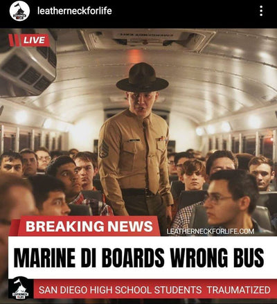 Marine Drill Instructor boards wrong bus - High school Students Traumatized.