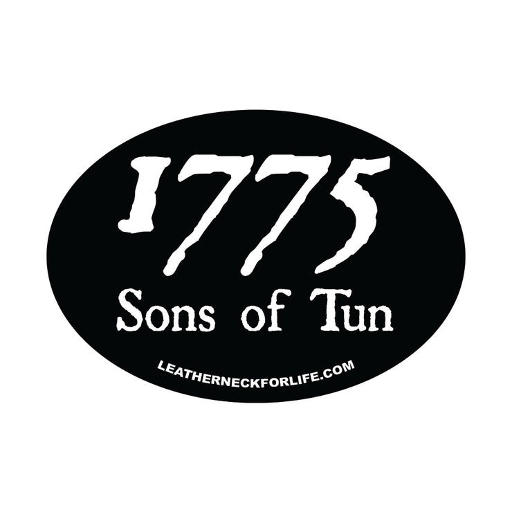 1775 Sons of Tun Oval Decal