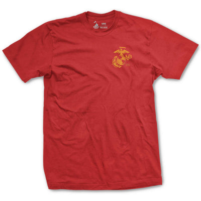 Basic Left Chest EGA Established T-Shirt - Red