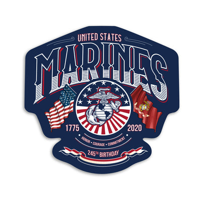 The 245 Marine Corps Birthday Decal