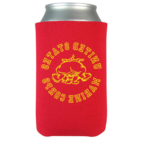 Image of Retro Bulldog Beverage Coolie - Red