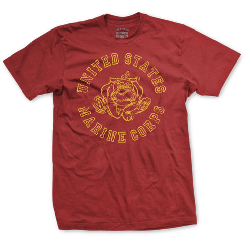 Image of Retro USMC Bulldog T-Shirt - Mens T-shirts- Leatherneck For Life