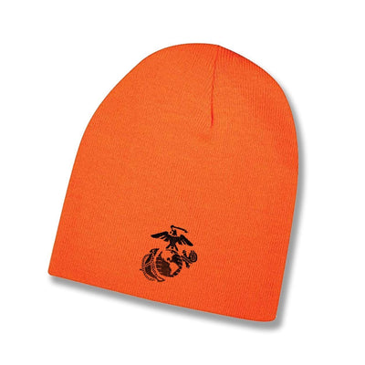 Hunter Orange Eagle Globe & Anchor Beanie