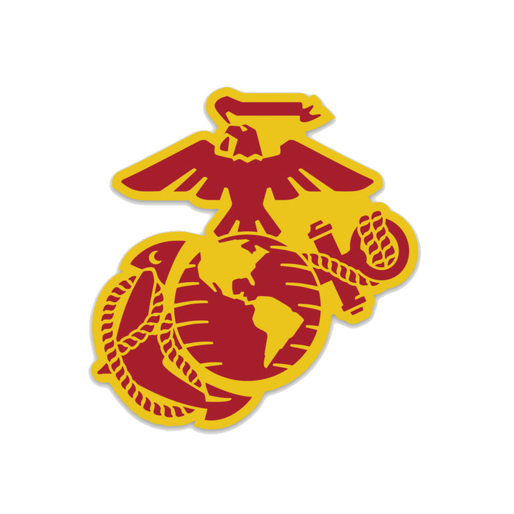Eagle Globe & Anchor Two-Tone Die Cut Decal