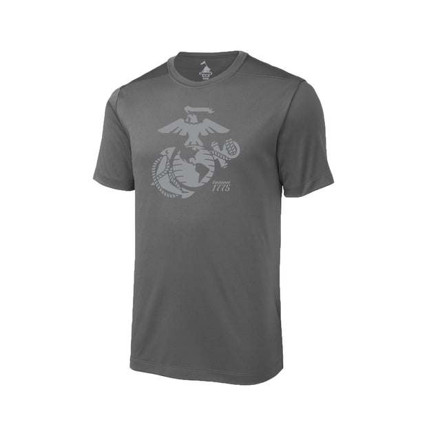 Eagle, Globe, and Anchor Established Performance T-Shirt - Grey