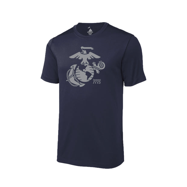 Eagle, Globe, and Anchor Established Performance T-Shirt - Navy