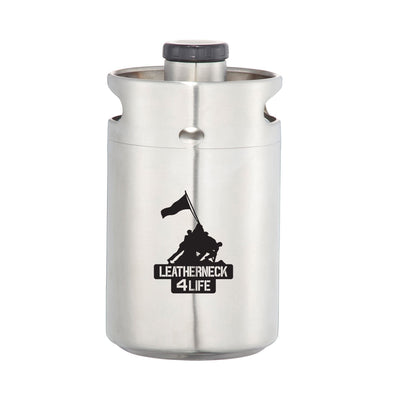 Leatherneck for Life 64 oz. Vacuum Insulated Growler Keg