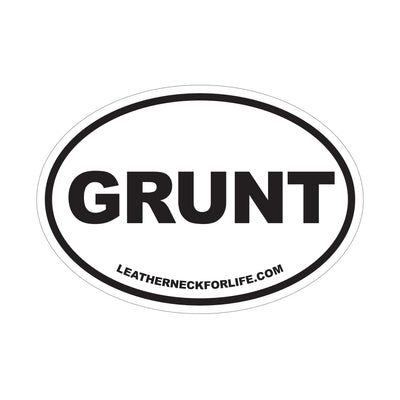 Grunt Oval Decal