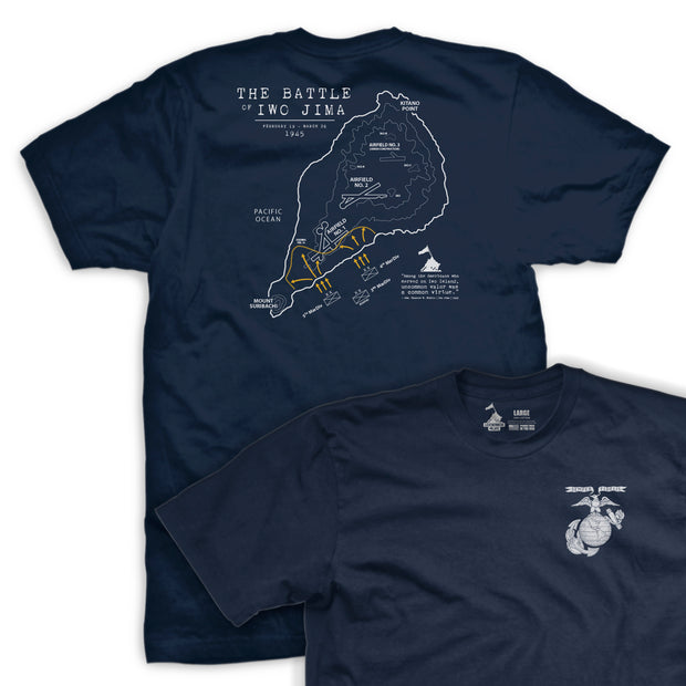 Iwo Jima Landing Map T-Shirt