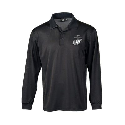 Long Sleeve EGA Performance Polo - Men's- Leatherneck For Life