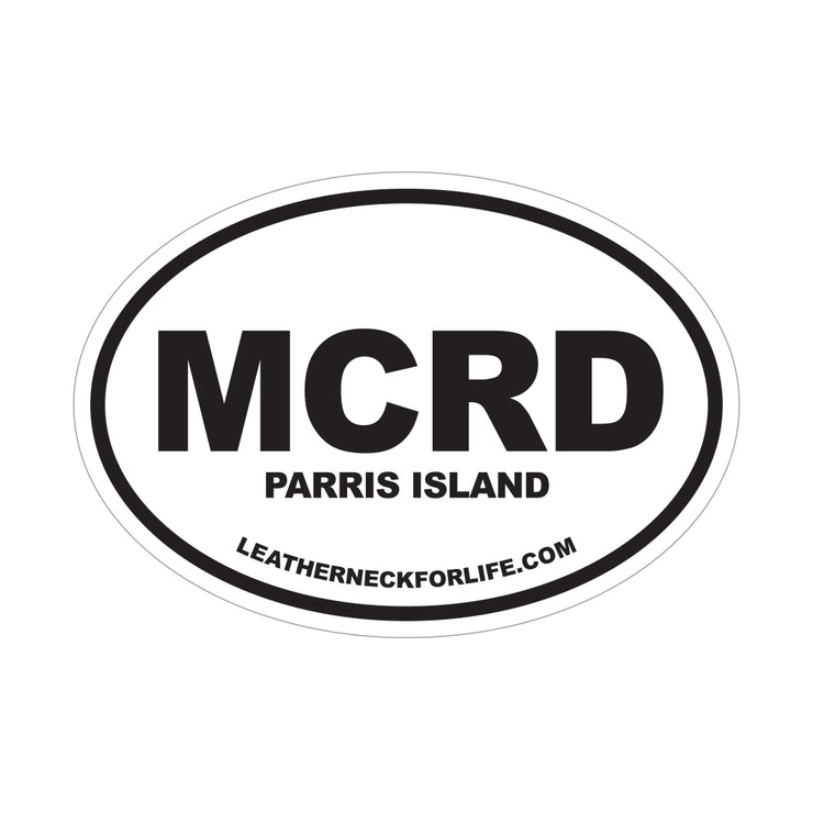 MCRD Parris Island Oval Decal