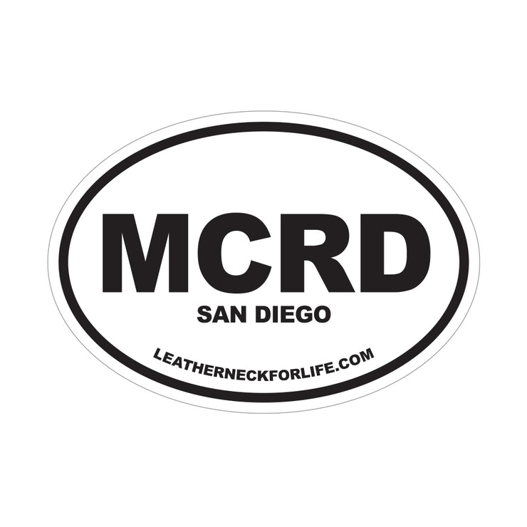 MCRD San Diego Oval Decal