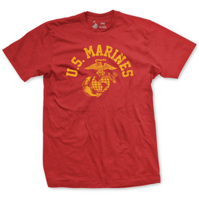 Old School Red USMC T-Shirt